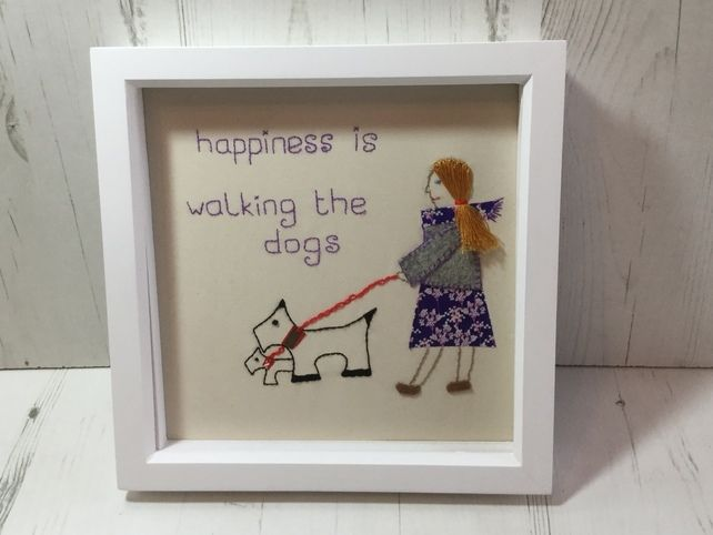 Picture Happiness is Walking the Dogs £25.00