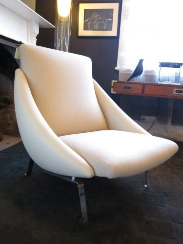 Framac chair in leather & wool