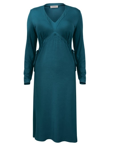 Pepperberry Teal Drawcord Jersey Dress