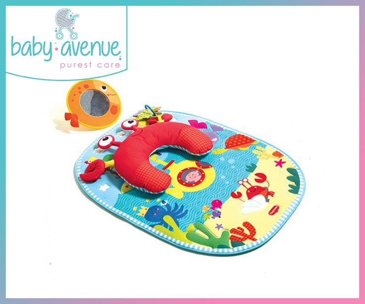 To Tummy Time Under The Sea είναι ένα ιδανικό χαλάκι δραστηριοτήτων με μαξιλάρι που βοηθάει το μωρό να διατηρεί την σωστή στάση του σώματος στο παιχνίδι.