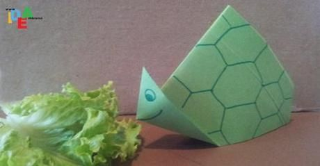 Tartaruga origami super semplice