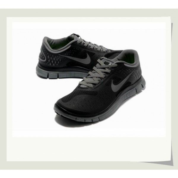 Men's Nike Free 4.0 V2 Running Shoes Black/Charcoal Gray. All are free  shipping