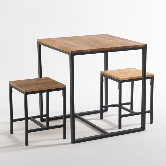 Table De Bistrot 2 Couverts Hiba Naturel La Redoute Interieurs La Redoute Mobile Table Salle A Manger Table Bistrot Table A Rallonge