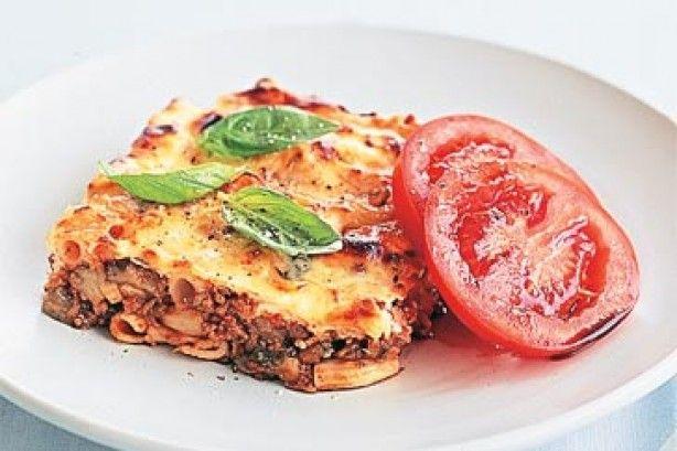Πέννες+με+κιμά,+μελιτζάνες+και+φέτα+στο+φούρνο