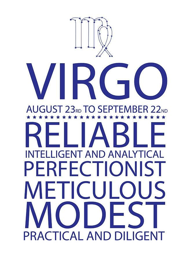 Virgo - August 23rd to September 22nd