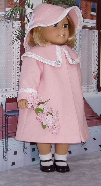 Spring Pink, would make a great Easter coat, don't have the same pattern, but could do something similar