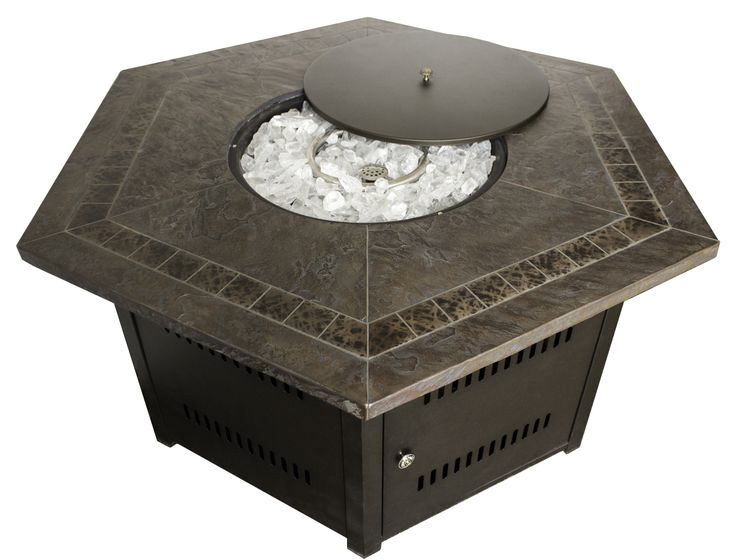 TFPS Hexagon Faux Stone Tile Fire Pit Table   TFPS WLF HEX