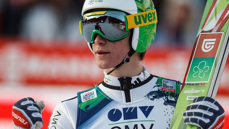 Peter Prevc beim Skiflug-Weltcup in Tauplitz am 12.01.2014 | Bildquelle: dpa