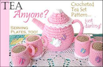 Crocheted Tea Pattern Set | YouCanMakeThis.com