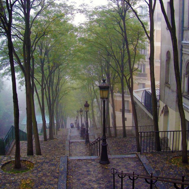 montmarte, paris: Spaces, Je Taim, Stairs, Favorite Place, Paris France, Beauty Place, Rain, Wanderlust, Montmartre Paris