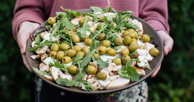 Kyckling med vitlök o oliver