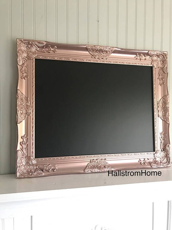 Rose Gold Wedding Chalkboard Ornate Framed Wedding Chalk