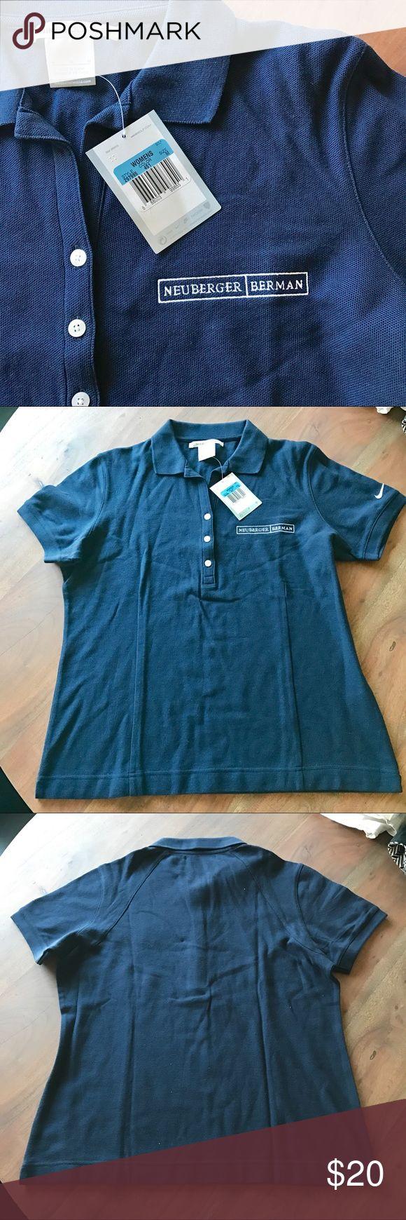NWT Nike Golf Polo Shirt Brand new never worn, branded navy blue golf polo. 100% cotton. Nike Tops