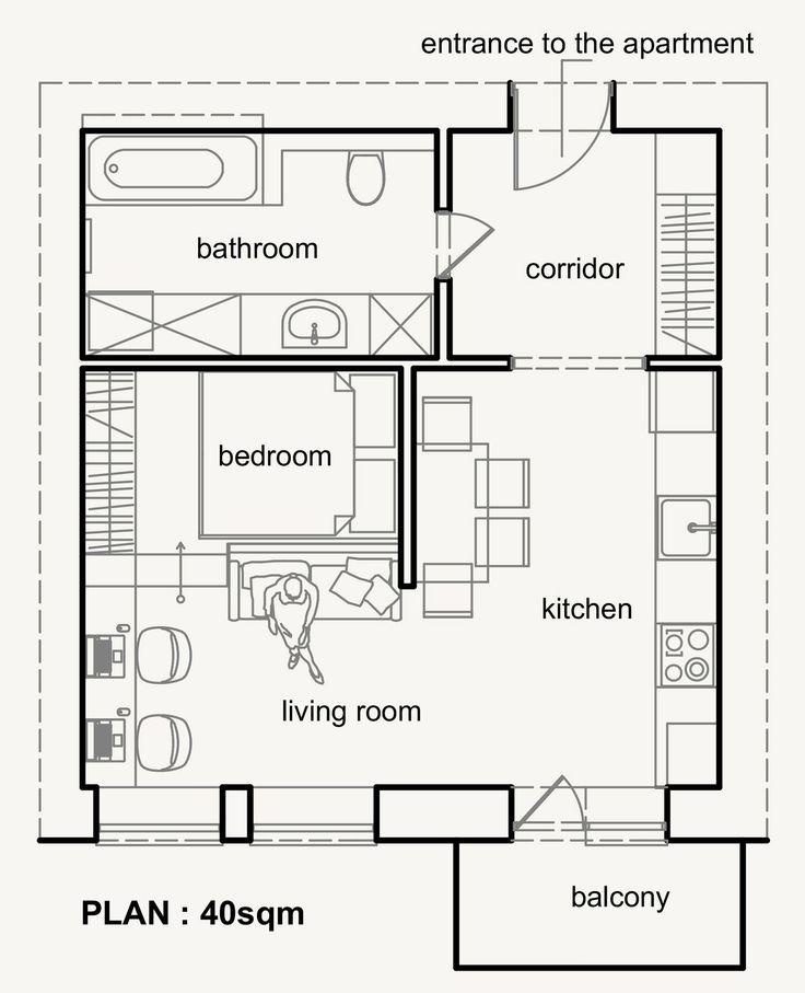 Современный интерьер квартиры-студии 40 м2