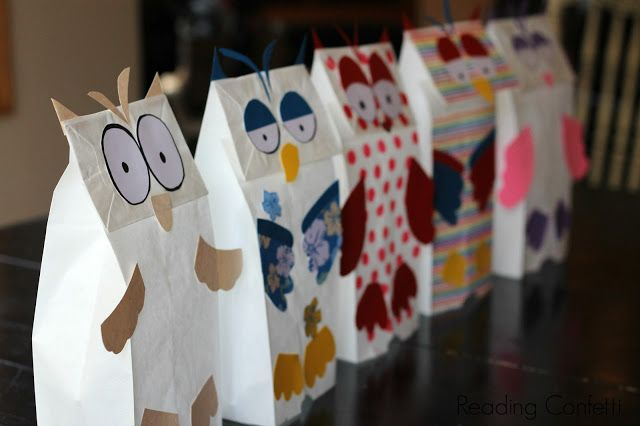 Book Activity: Paper Bag Owl Puppets connects with Little White Owl