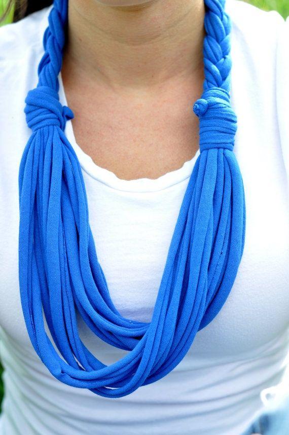 Etsy tshirt scarves | Tshirt Scarf Braided Scarf Infinity Scarves by ... | T-shirt scarves