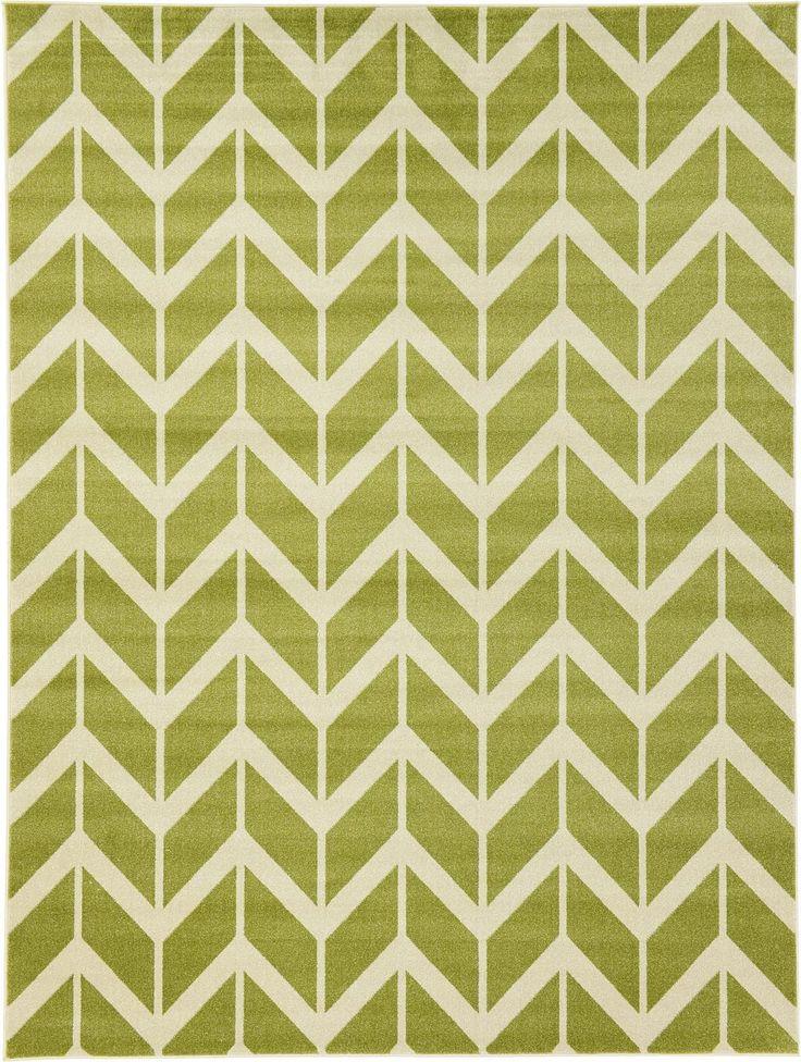 Green 9' x 12' Chevron Rug | Area Rugs | eSaleRugs
