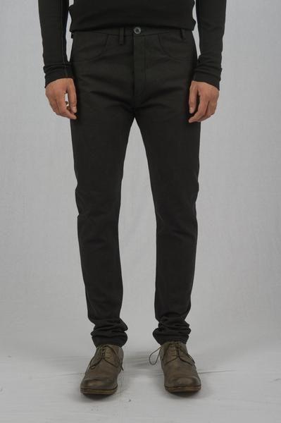 Label Under Construction - Black Cotton Canvas One Cut Pants