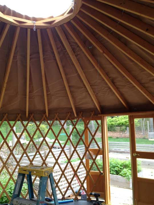 Backyard Yurt: Gardens Ideas, Outdoor Rooms, Yurts Diy, Backyard Studios, Diy Yurts, Backyard Gardens, Back Yard, Diy Projects, Outdoor Projects