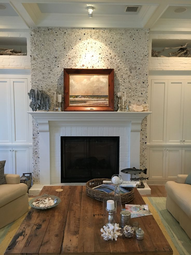 Hollows Fireplace With Tabby Stucco House Inspiration