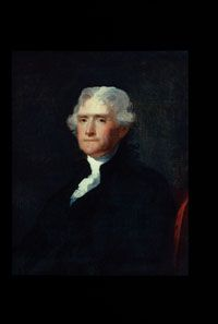 Thomas Jefferson (1743-1826)  Few members of the founding generation rank with Thomas Jefferson in the defining of the American Revolution for contemporaries and the shaping its legacy for posterity. His legion of accomplishments includes his authorship of the Declaration of Independence, his service as America's first Secretary of State and its third President, and his establishment of the University of Virginia.