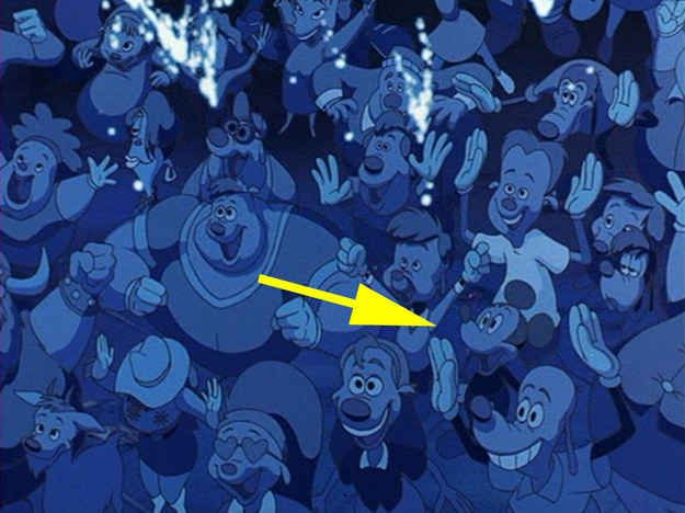 In A Goofy Movie , Mickey Mouse can be seen in the audience of the concert during the dance number between Max, Goofy, and Powerline.