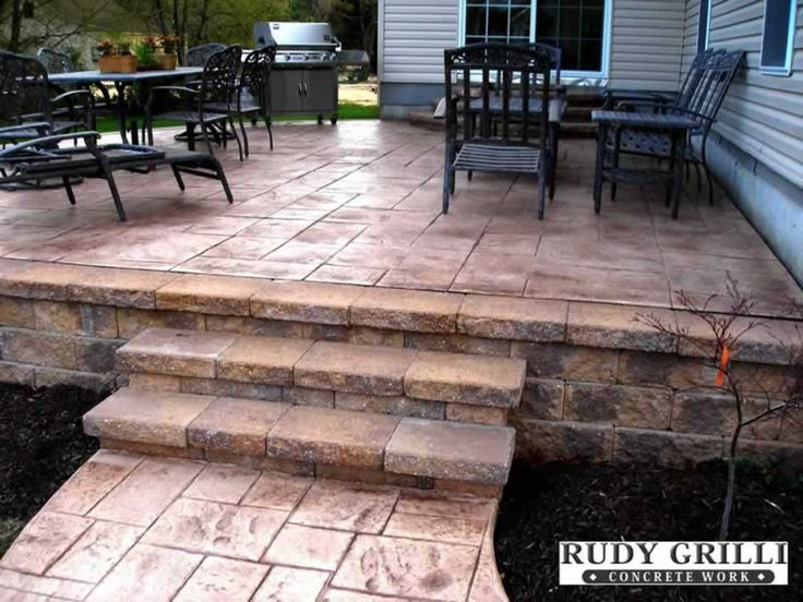 70 best super sweet stamped concrete images on pinterest ... - Stamped Patio Designs