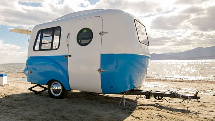 A retro-modern camper by Happier Camper: http://humble-homes.com/happier-campers-hc1-is-a-retro-travel-trailer-with-style/