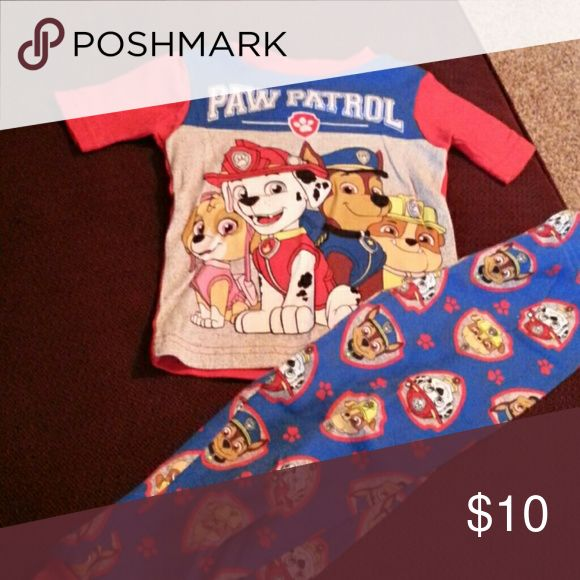 Paw Patrol pajama set 3t worn once perfect condition Nickelodeon Pajamas Pajama Sets