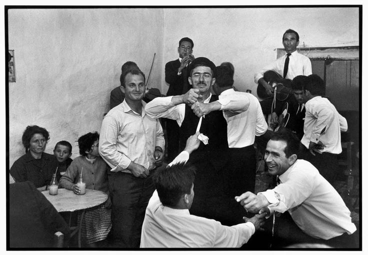Constantine Manos Mykonos. 1967. Dancing in a cafe.