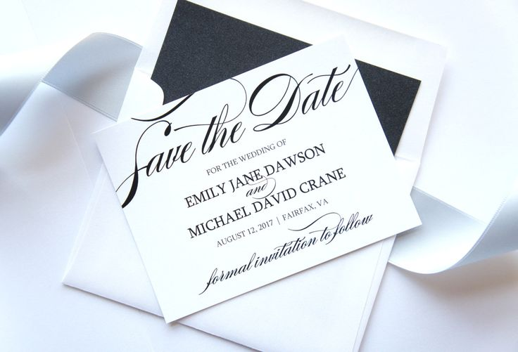 Elegant Save the Date Cards - Formal Save the Date Card, Classy, Shimmer, Script, Black and White, Save the Dates - DEPOSIT by KraftWeddingPapers on Etsy https://www.etsy.com/listing/214668185/elegant-save-the-date-cards-formal-save