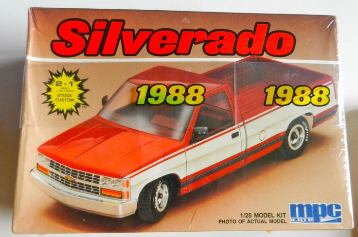 MPC Ertl 1988 Chevy Silverado C 1500 Truck 1 25th Scale Plastic Model Kit SEALED | eBay