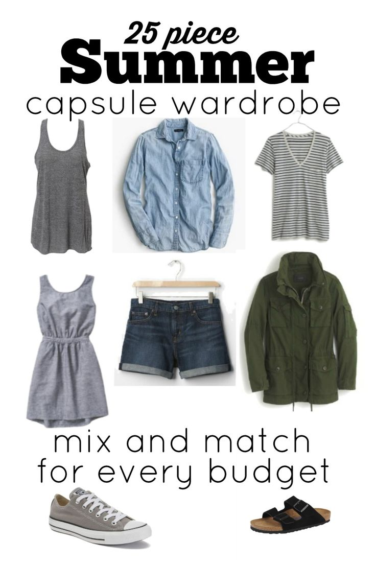 Do you have a closet full of clothes, but have trouble getting dressed each day? Do you struggle to find clothes you love that work within your budget? We've taken all the guesswork out of shopping for clothes. We've created this simple, stylish, budget-friendly summer capsule wardrobe. We have 25 pieces that will keep you cool and looking great this summer!