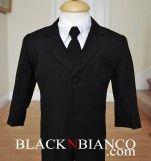 Toddler Infants Boys Black Suit Black N Bianco