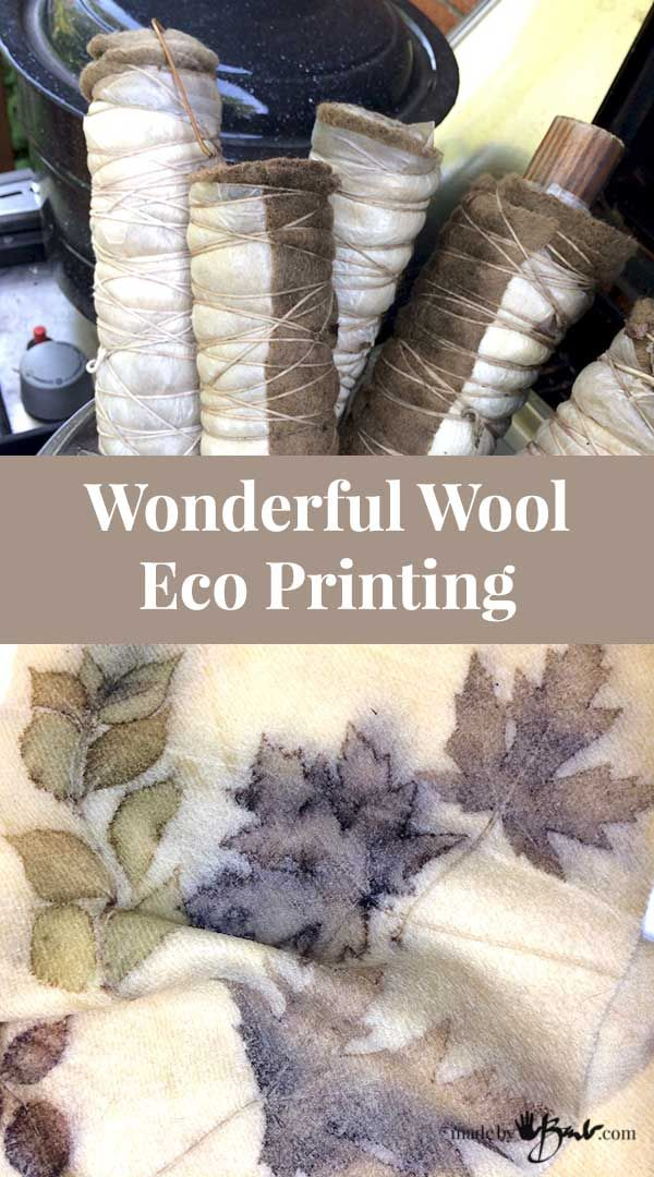 Upcycle wool blankets from bygone years into fantastic Eco Prints with this detailed tutorial. See how beautiful these vintage blankets can become!