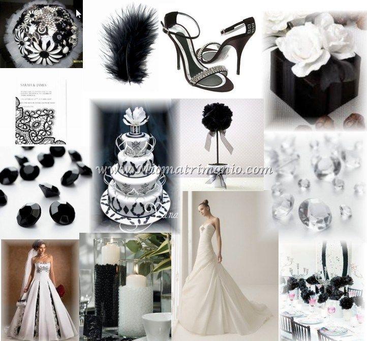 Matrimonio Tema Black And White : Migliori immagini su black and white weddings tema