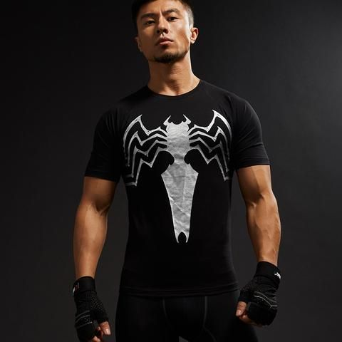 Spiderman Featuring Symbol In Black White Edition Compression Training T-shirt  #Spiderman #Featuring #Symbol #InBlackWhite #Edition #Compression #Training #T-shirt