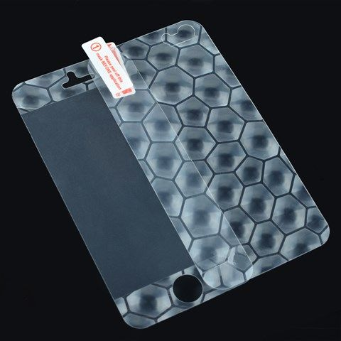 3D Full Body Front Screen Protector + Back Guard Film Set for iPhone5/5S (Hexagon)