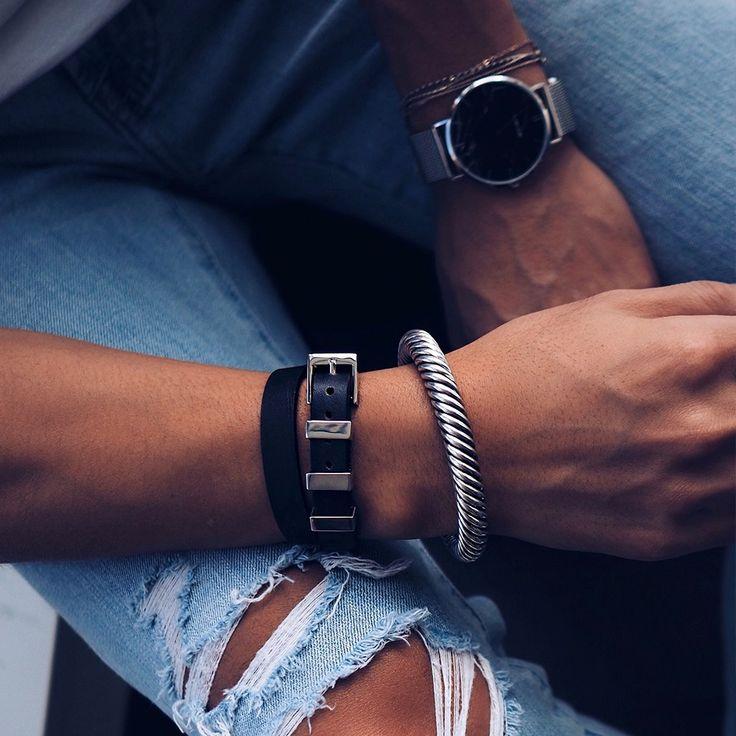 Ipanema Leather Double Wrap Bracelet - Silver