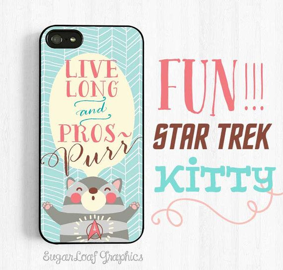 Star Trek Quote iPhone Case, Live Long and Prosper, iPhone Case, iPhone 5s 5c 5 Case, Samsung Galaxy S3 S4 S5 Case, Samsung Note 3 Case Qt25