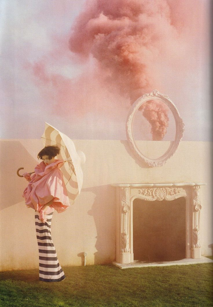 visual optimism; daily fashion fix.: the right side: lindsey wixson and kirsi pyrhonen by tim walker for vogue uk april 2011
