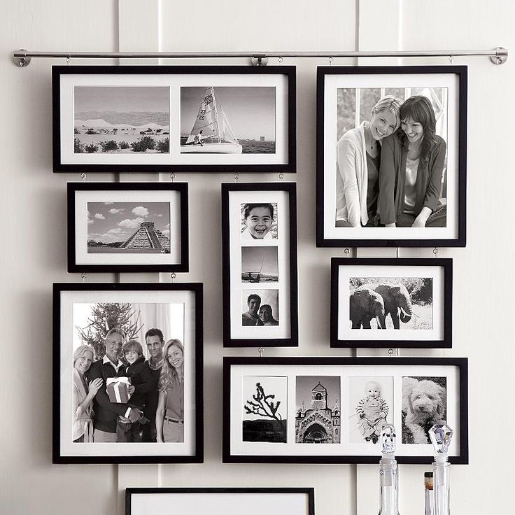 Choose black espresso or white finish seven frames hold 13 photos two 5x7
