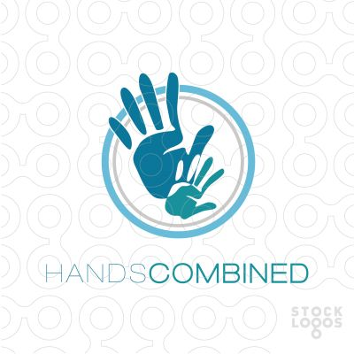 Exclusive Customizable Logo For Sale: Hands Combined | StockLogos.com
