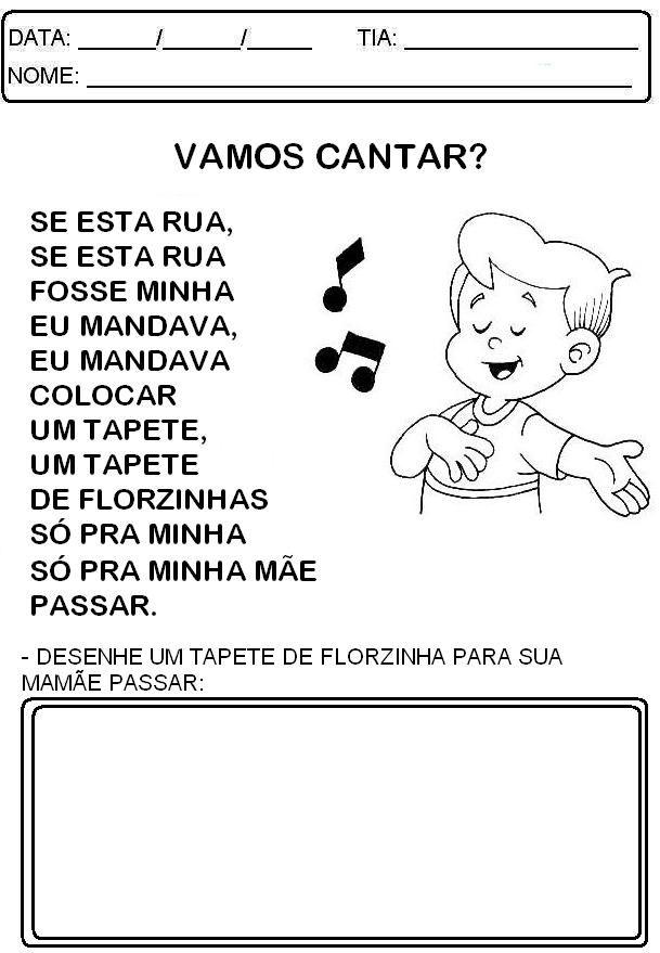 Aprender Brincando Dia Das Maes Musica Dia Das Maes Atividades