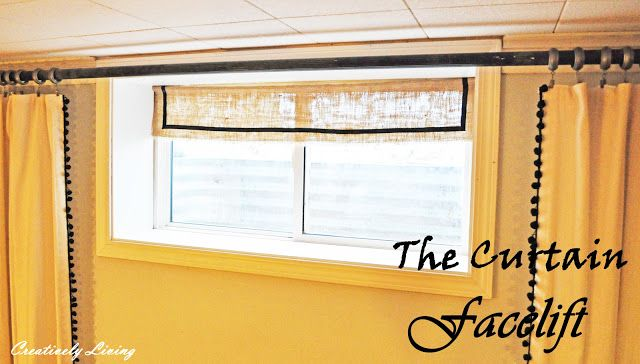 The Window Wall Curtain Facelift for Around $10. (no sew) - Creatively Living Blog