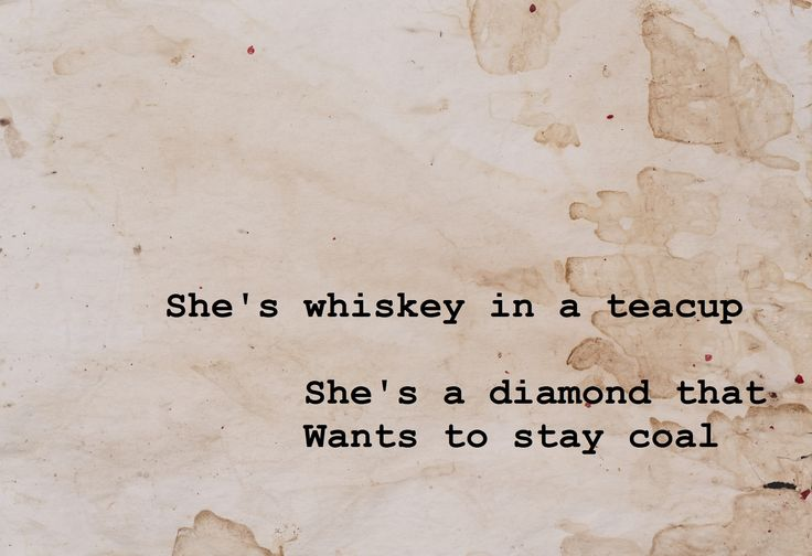 Tom Waits Whiskey in a Teacup
