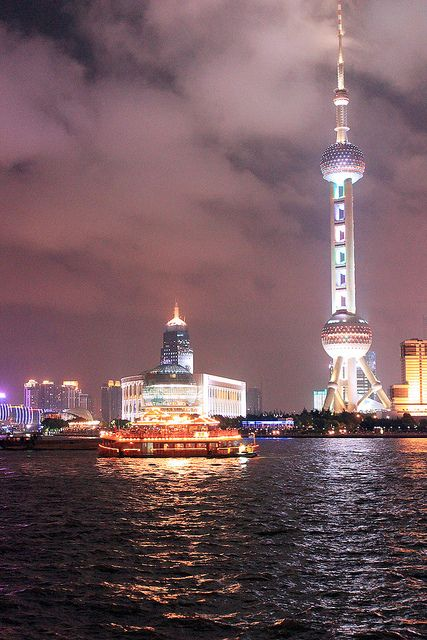Perl Tower from the Bund, Shanghai, China