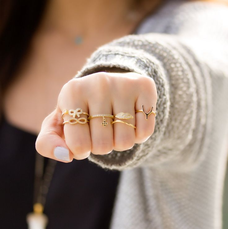 Too many gold rings equals never enough gold rings!..╰☆╮Δαχτυλίδια από επιχρυσωμένο ασήμι.  https://www.olizz.com/rings http://etsy.me/29jryfv  #ring #stackingrings #goldring #olizz #jewelry #bridalpartygifts #statementring #bridesmaidgift