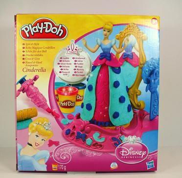 PlayDoh Cinderella. Kleertjes maken en versieren met vormpjes en klei. Nu met 50% korting. www.kleishop.nl