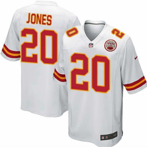 Thomas Jones Jersey Kansas City Chiefs #20 Youth White Limited Jersey Nike NFL Jersey Sale